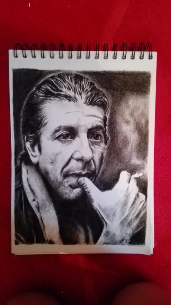 Leonard Cohen by sanaelle